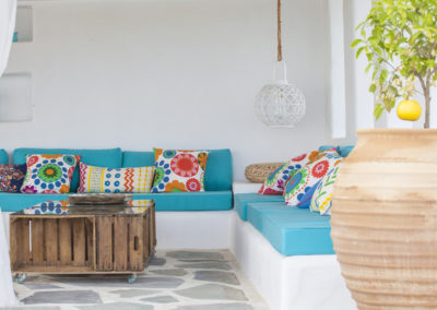Villa Elafina | Sitz-Lounge Pool Haus