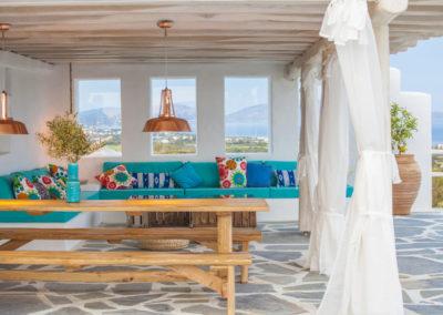 Villa Elafina | Sitzlounge im Poolhaus