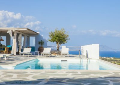 Villa Elafina | Poolterrasse mit 180 Grad Meerblick