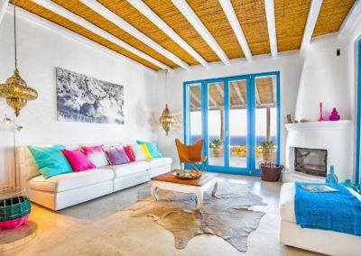 Villa Elafina | Wohnzimmer mit Kamin