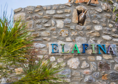 Villa Elafina | Natursteinmauer am Grundstück-Entrée
